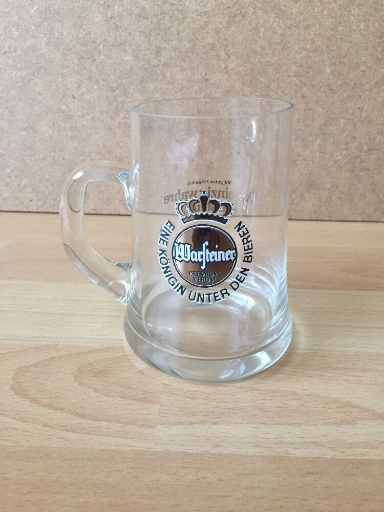 warsteiner bierglas glas gl ser 0 3l das einzige wahre warsteiner griff ebay. Black Bedroom Furniture Sets. Home Design Ideas