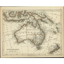 Australia 1853 Lowry antique map Tooley #878 w/ erroneous hooked Lake Torrens