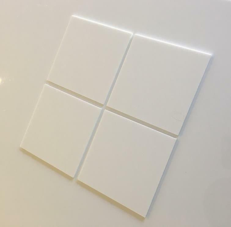 White Gloss Acrylic Square Crafting Mosaic Wall Tiles