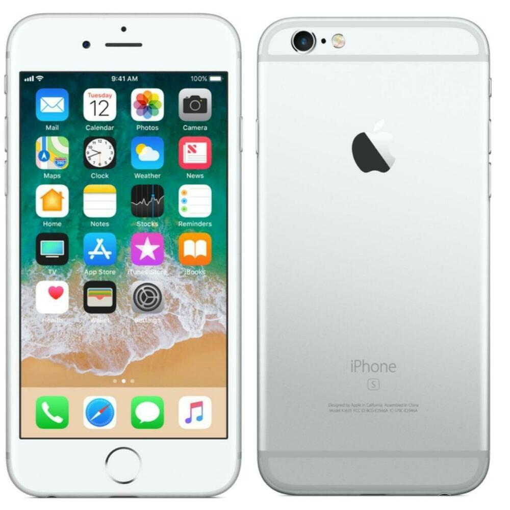 apple iphone 6s 16gb silver gsm unlocked at t t mobile 4g lte smartphone 643380793041 ebay. Black Bedroom Furniture Sets. Home Design Ideas