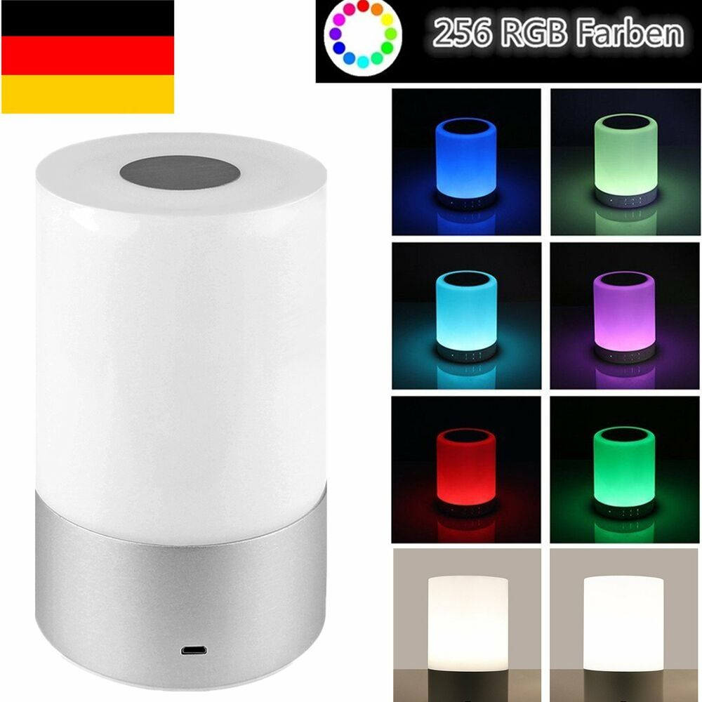 dimmbar led rgb touch tischlampe schreibtischlampe leseleuchte nachttischlampe ebay. Black Bedroom Furniture Sets. Home Design Ideas