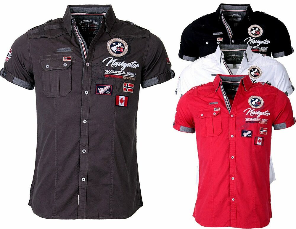 geographical norway herren hemd kurzarm t shirt polo club zariminel slim fit ebay. Black Bedroom Furniture Sets. Home Design Ideas