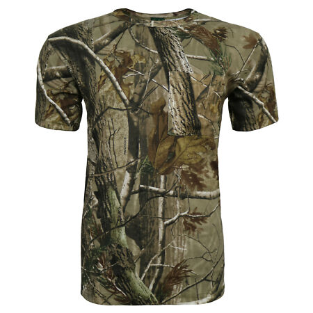 img-Children's Camouflage T-Shirt RealTree Print Forest Camo Short Sleeve Top 3-13Yr