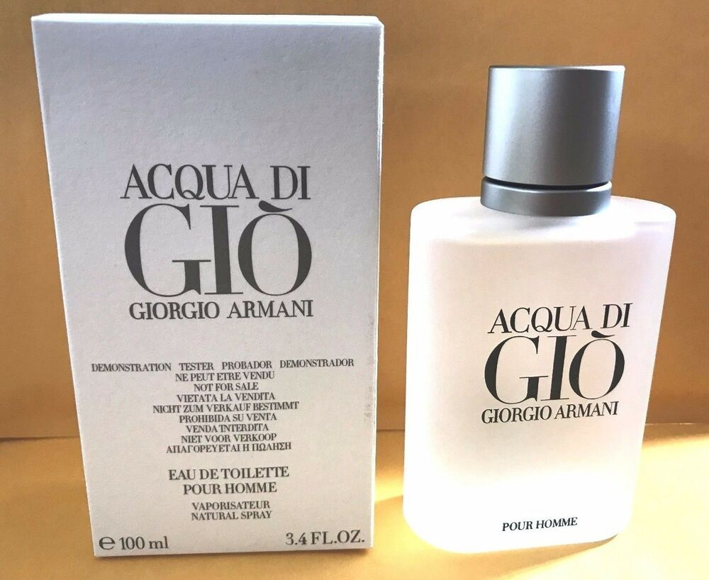 Acqua Di Gio 3.4 Oz Men Spray Edt Cologne Giorgio Armani New Authentic | eBay