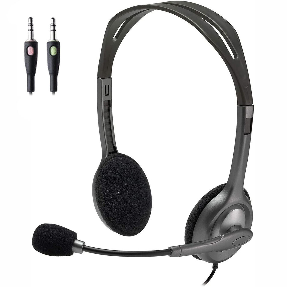 Earbuds with microphone for laptop - Logitech H110 Stereo Headset Overview