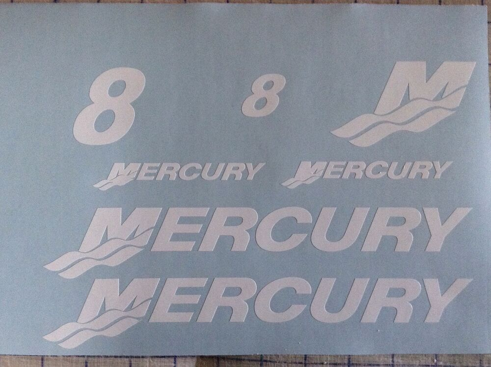 Hp Mercury Outboard Decal Set Boat Motor Replacement Decals EBay - Decals for boat motors