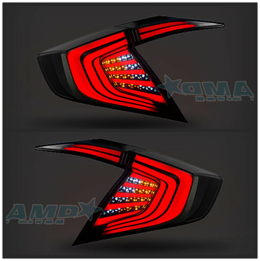 led smoked tinted tail lights for honda civic 10th gen 4dr. Black Bedroom Furniture Sets. Home Design Ideas