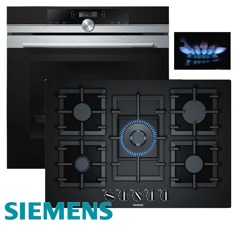 siemens gas herdset einbau autark 4d backofen gas. Black Bedroom Furniture Sets. Home Design Ideas