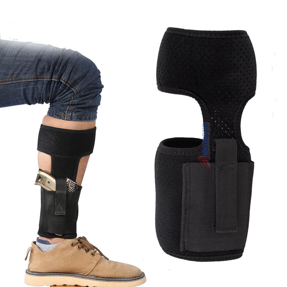 Ankle Holster Concealed Carry Leg Gun Holster with Mag Pouch For Small Pistol