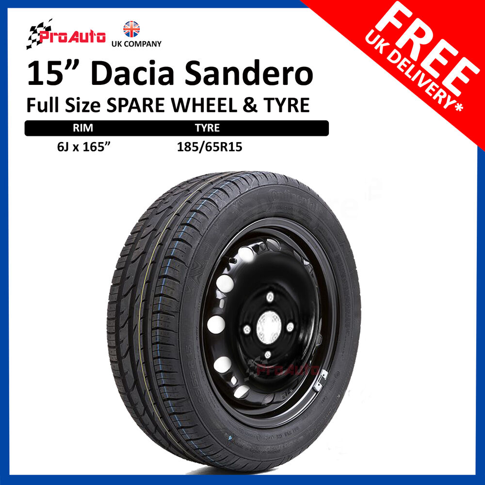 dacia sandero 2013 2018 full size steel spare wheel 15 and tyre 185 65r15 ebay. Black Bedroom Furniture Sets. Home Design Ideas
