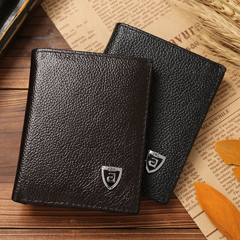 1c6922fdbd96 Details about Mens Genuine Leather Small Wallet Cowhide Bifold Card ID  Holder Mini Slim Credit