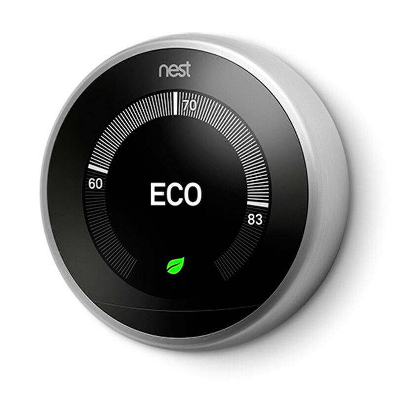 nest learning thermostat 3rd generation t3007es new. Black Bedroom Furniture Sets. Home Design Ideas