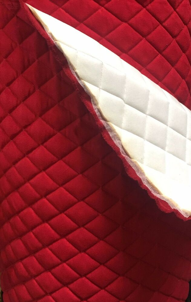 Red Suede Quilted Auto Headliner Headboard Fabric With 3 8