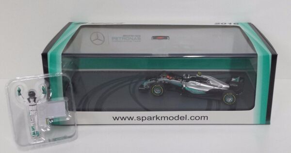 SPARK 1/43 F1 MERCEDES W07 NICO ROSBERG GP ABU DHABI 2016 WORLD CHAMPION S5025