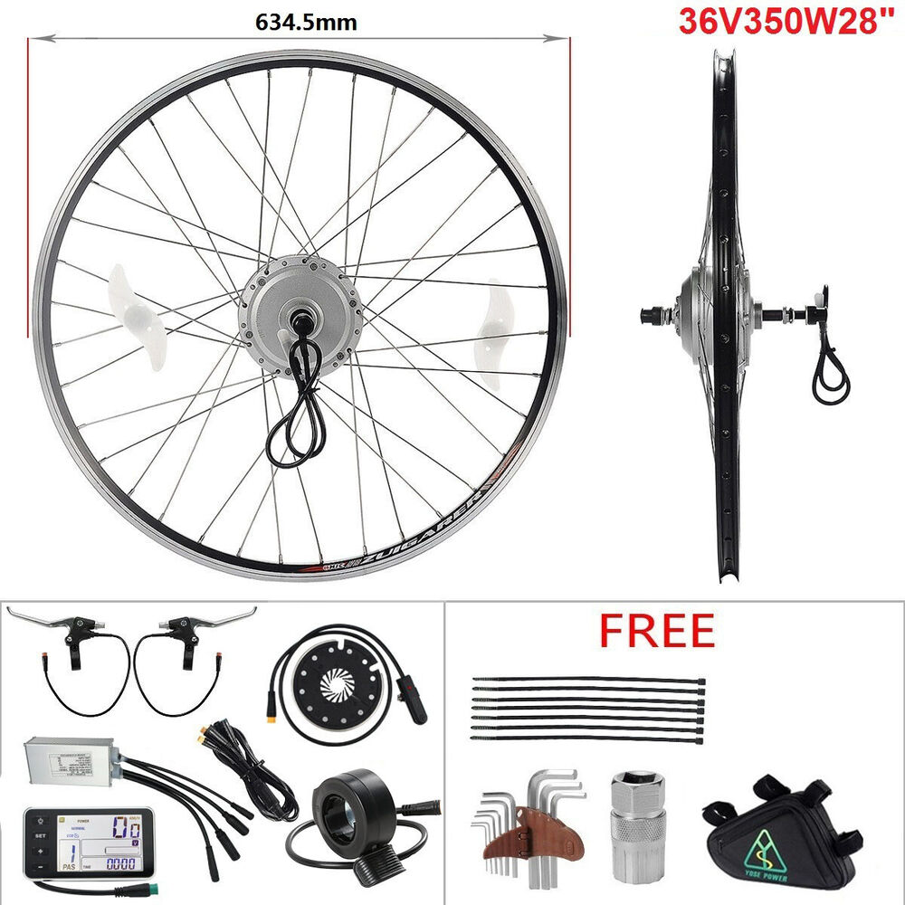 36v350w hub moteur e bike kit conversion freewheel arri re 28 39 39 v lo electrique ebay. Black Bedroom Furniture Sets. Home Design Ideas