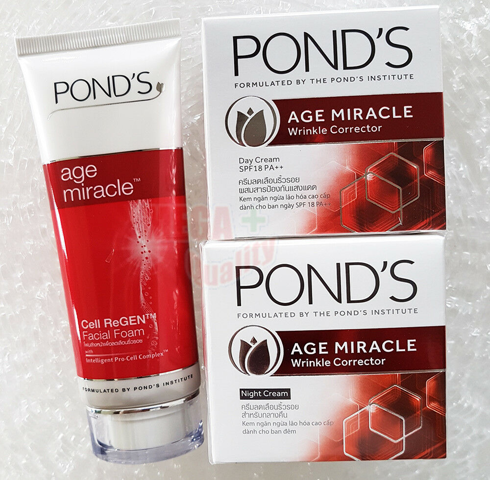 Set Pond S Age Miracle Daily Facial Foam Cell Regen Day Night Ponds Flawles Cream Ebay