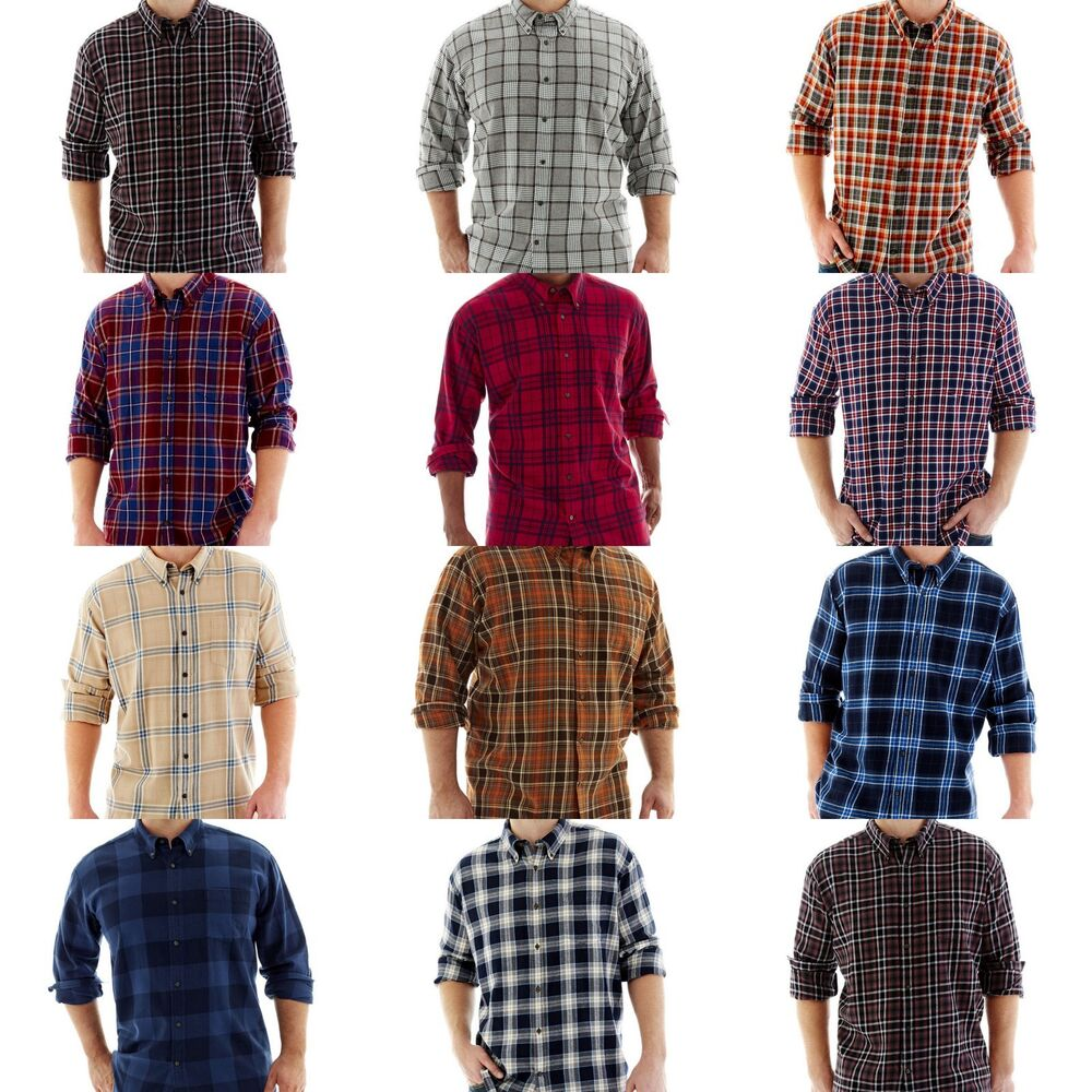 New foundry mens big and tall flannel shirts long sleeve for Large tall flannel shirts
