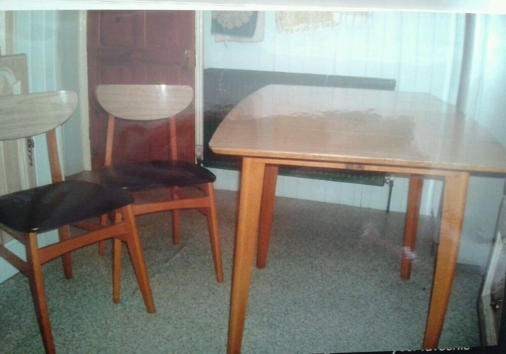 Vintage 1960s drop leaf table 4 chairs and sideboard ebay - Drop leaf table and chairs uk ...