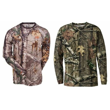 img-STEALTH Mens Camouflage Camo Real Tree Jungle Forest Print LONG Sleeved T Shirt