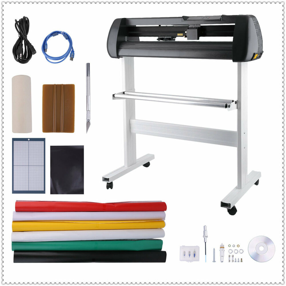 34 vinyl cutter sign cutting plotter printer sticker craft decal making kit al1 ebay. Black Bedroom Furniture Sets. Home Design Ideas