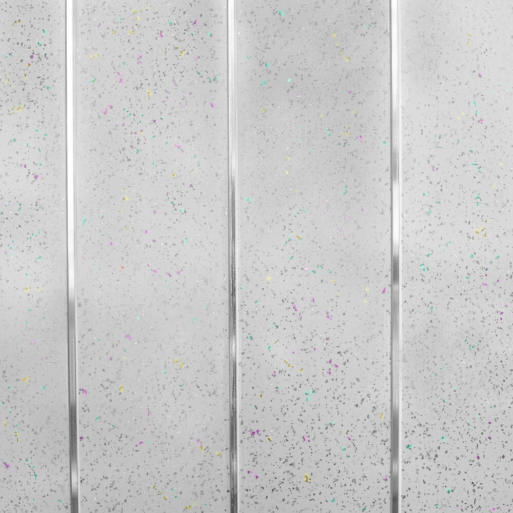 Platinum White Sparkle Chrome Wall Cladding Bathroom Kitchen Ceiling ...