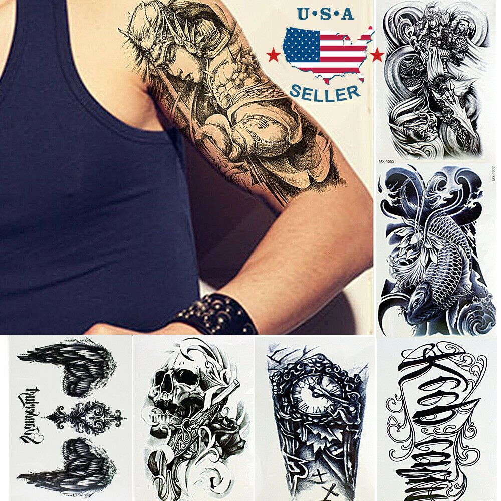 Tattoos Henna For Body: 10 Sheets Temporary Tattoos Body Arm Tattoo Sticker Long