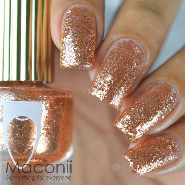 Rose Gold Nail Glitter: Keys To The Mansion