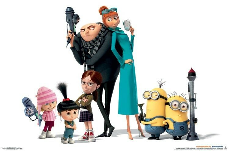 DESPICABLE ME 3 - CHARACTERS MOVIE POSTER 22x34 - MINIONS ...