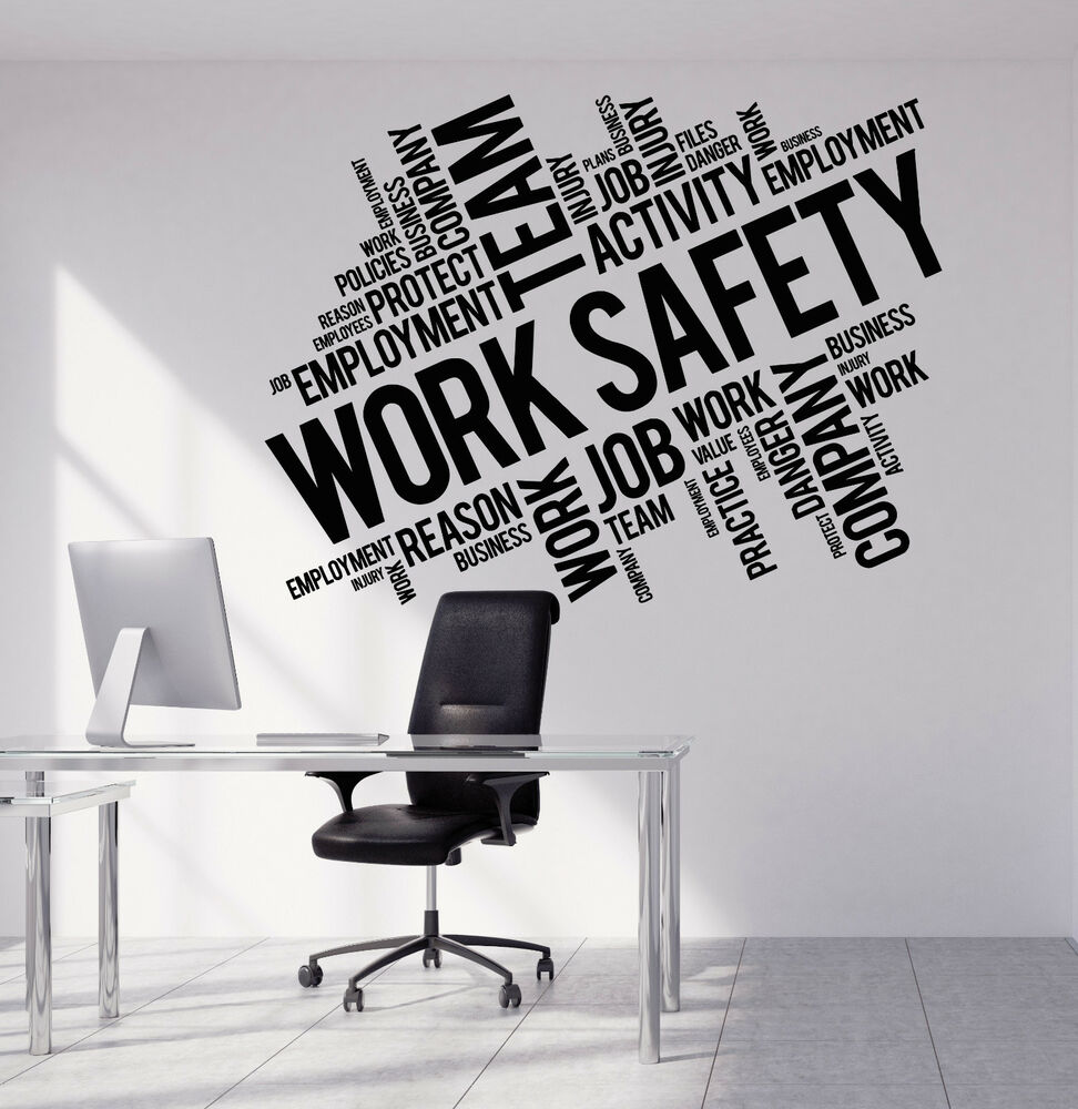 Vinyl Wall Decal Work Safety Business Office Team
