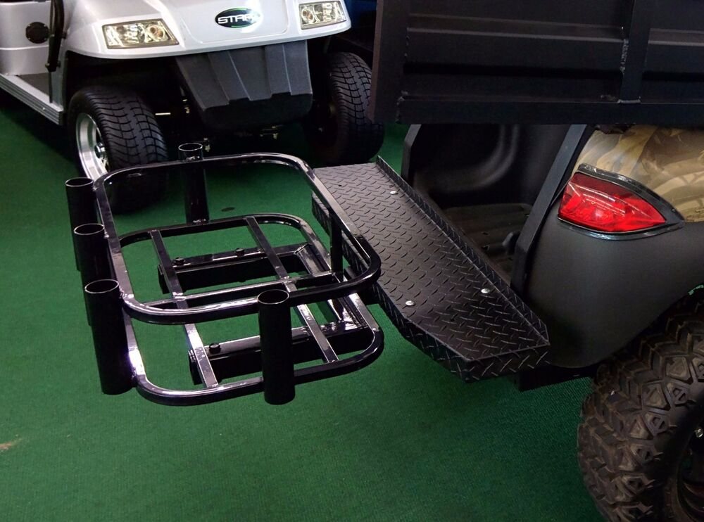 Golf cart cooler rod holder hitch mount ebay for Golf cart fishing rod holder
