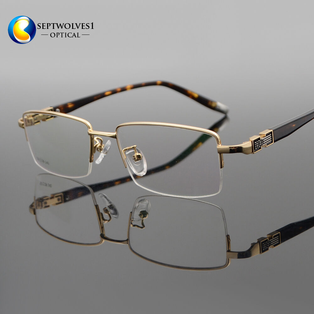 173dc3d66e Details about New Designer Men s Half Rimless Metal Eyeglasses Frames  Optcial Eyewear RX Able