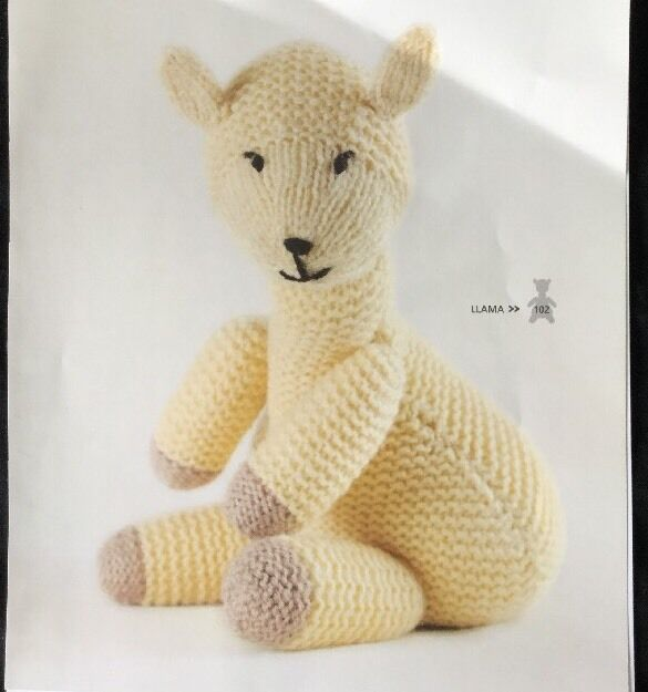 Knitting Pattern For Toy Animal Llama 10 In Height Ebay