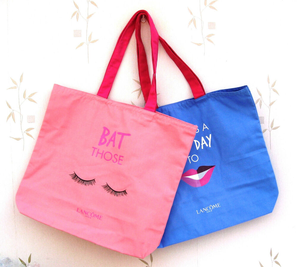 Lancome Novelty Tote Bags Choose Your Option Pink Or Blue See Dropdown Ebay