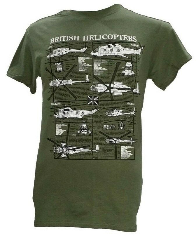 20cee1f1 Details about British Helicopters - RAF / Navy / Army Aircraft / Military T  Shirt - Blueprint.