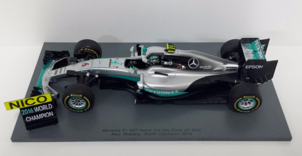 SPARK 1/18 F1 MERCEDES W07 NICO ROSBERG GP ABU DHABI 2016 WORLD CHAMPION 18S250