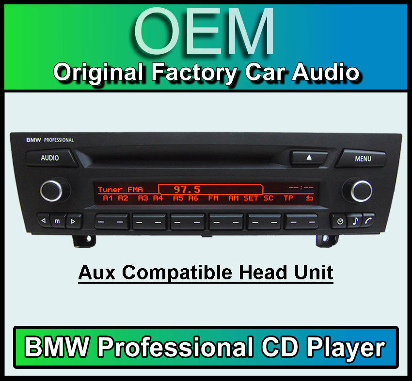 bmw professional cd player bmw 3 series stereo car radio bmw e90 e91 e92 e93 aux ebay. Black Bedroom Furniture Sets. Home Design Ideas