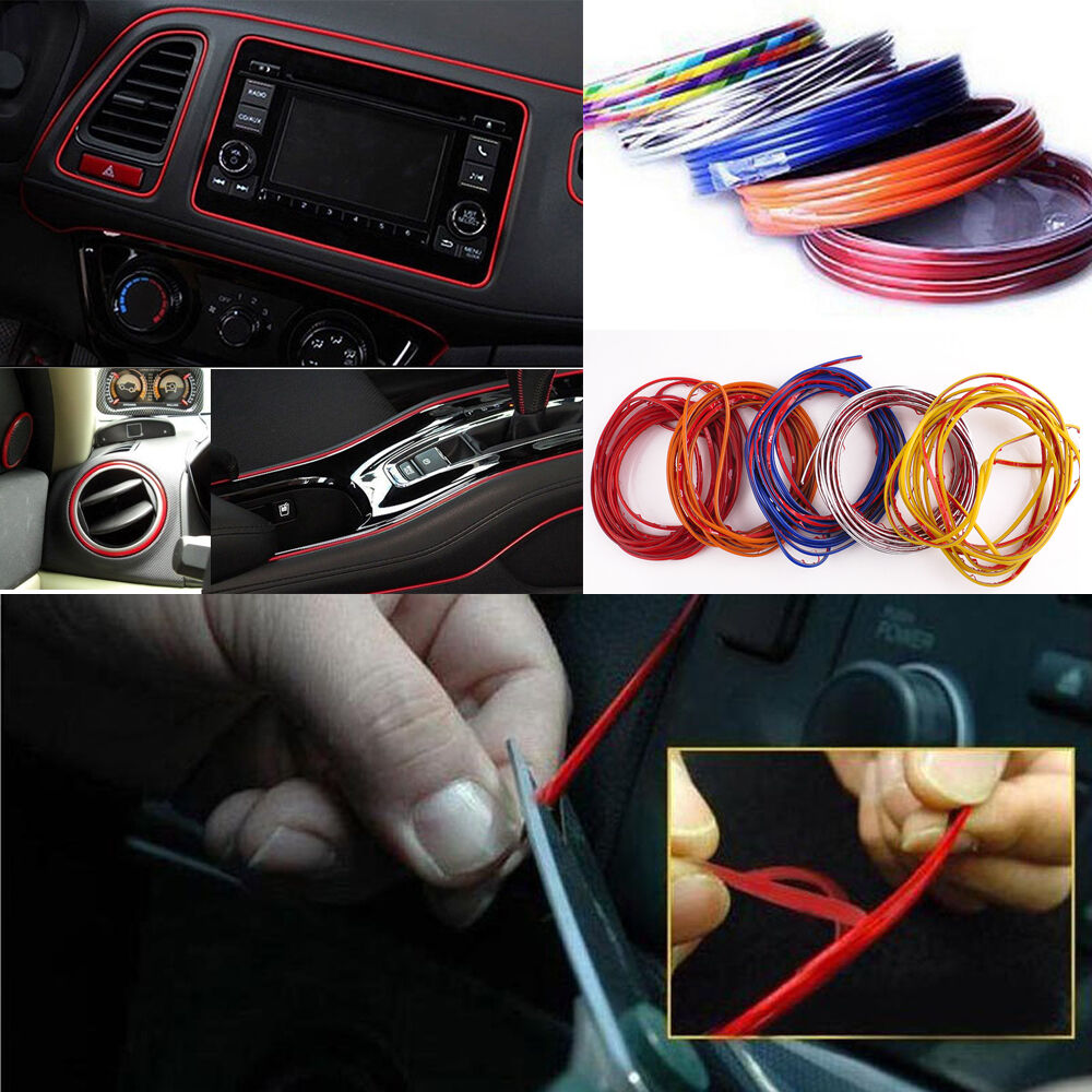5m point edge gap line car interior accessories molding garnish decor light diy ebay for How to decorate your car interior