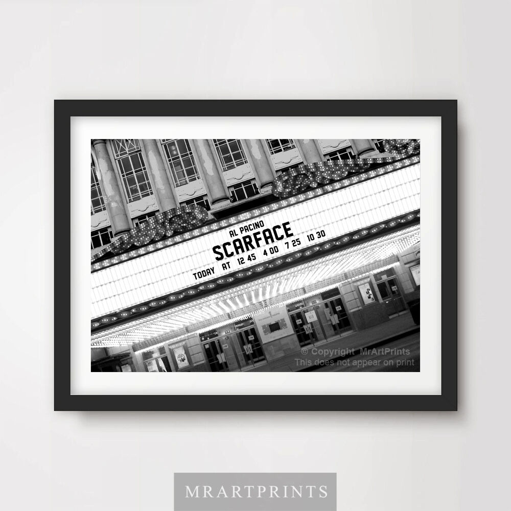 SCARFACE Art Print Poster Cinema Sign Marquee Movie Film Wall Decor ...