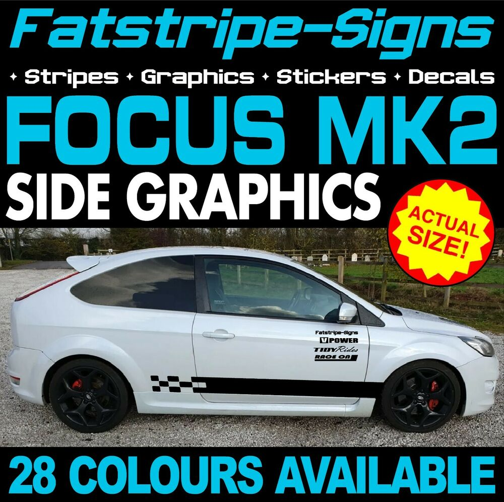 FORD FOCUS ST MK GRAPHICS DECALS STICKERS STRIPES CAR VINYL RS - Car decals designnew design full car body stickers for ford focus golf mg
