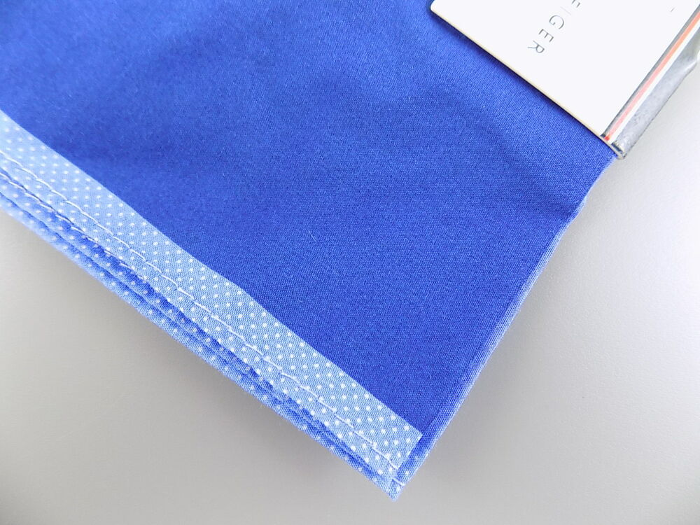 "Club Room $65 Blue Plain WD 16/"" MEN HANDKERCHIEF POCKET SQUARE 3-PK COTTON M09"