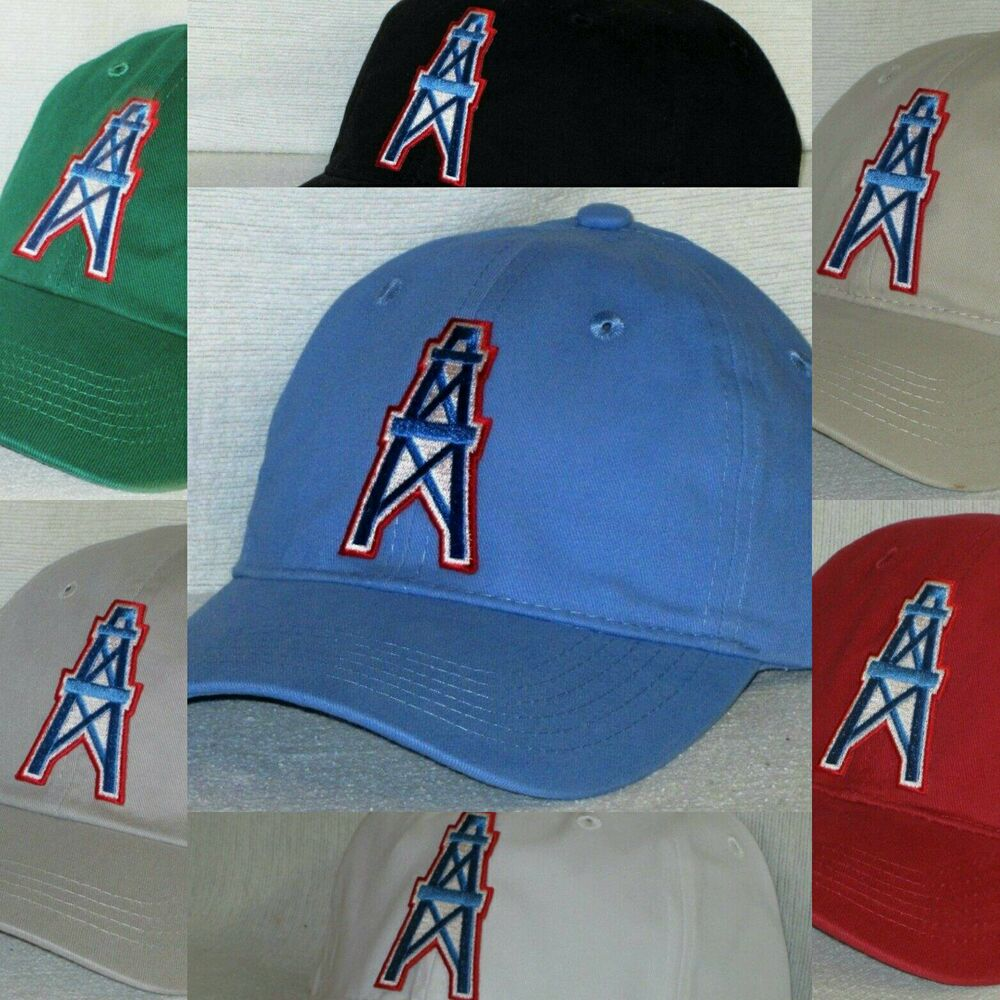 6589f1d71c8 Details about Houston Oilers Polo Style Cap ✨Hat ✨CLASSIC NFL PATCH LOGO ✨8  Colors ✨NEW ~COOL