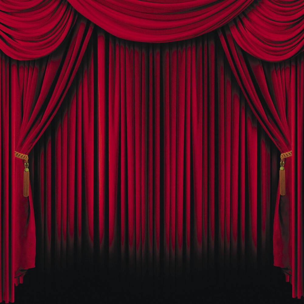 Red Curtain Backdrop Photo Prop Wall Mural MOVIE circus ...