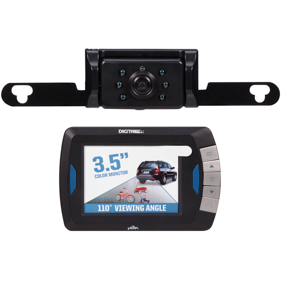 Peak Digital Wireless Backup Camera w/ Color LCD Monitor and Night ...