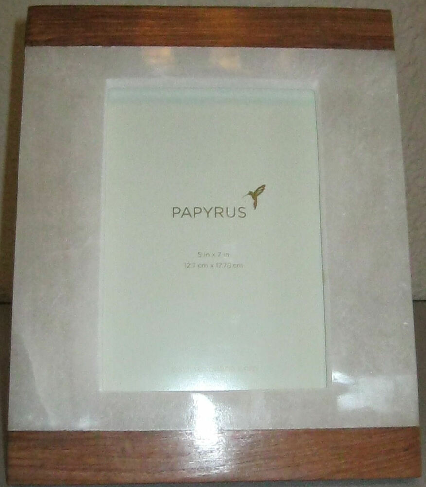 NEW PAPYRUS 5X7 WOOD & ALABASTER TABLETOP PICTURE FRAME #786011 ...