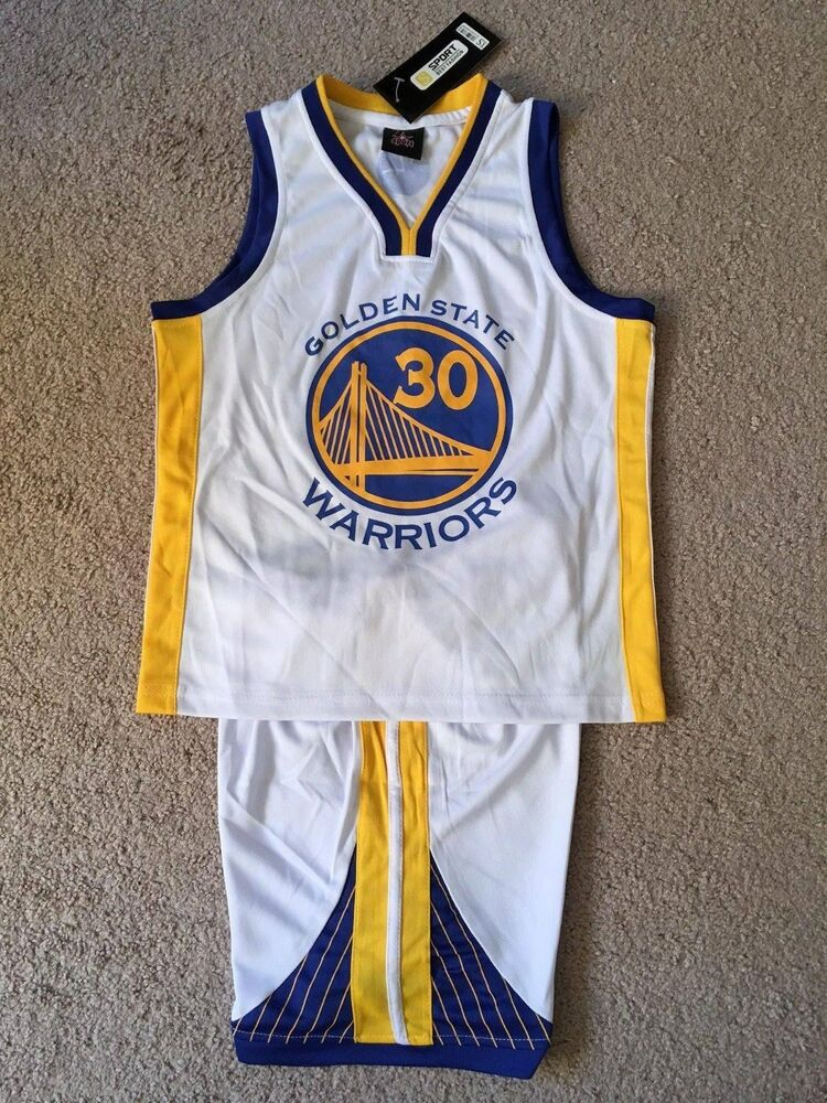 edace79a9 Stephen Curry  30 Golden State Warriors Youth Kids Basketball Jersey Set  White