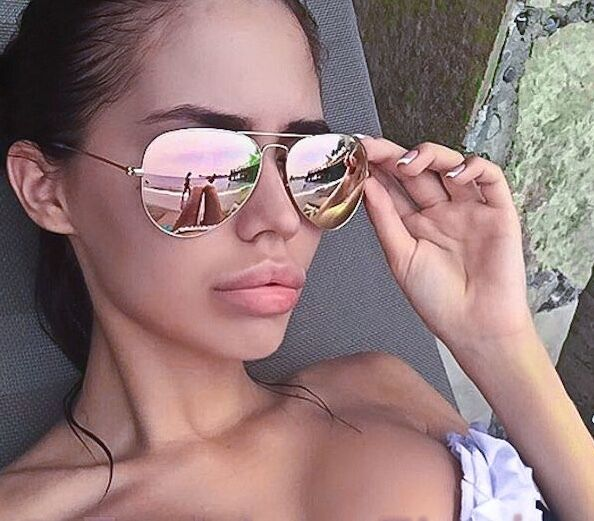 Rose Gold Copper: Ray-Ban Aviator - Gold Frame