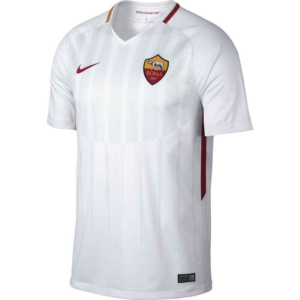 premium selection d9ea0 22fe5 Details about Nike AS Roma Season 2017 - 2018 Away Soccer Jersey Brand New  White