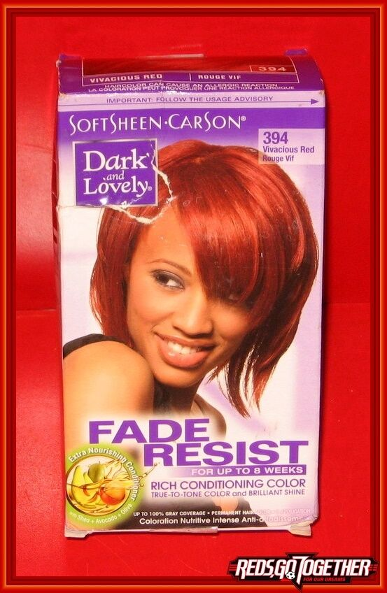 Softsheen Carson Dark And Lovely Hair Color Vivacious Red 394 Ebay