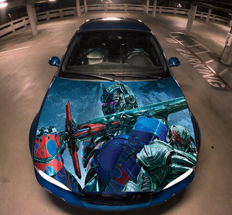 Transformers Full Color Hood Graphics Vinyl Wrap Fit Any