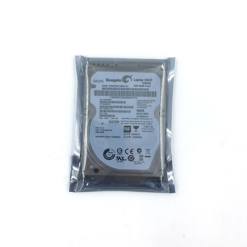 Details About Seagate St1000lm014 Laptop Sshd 1tb 8gb 2 5 Sata Solid Hybrid Drive 64mb